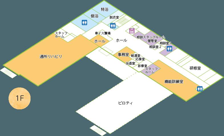 エスポアール城西平面図1階